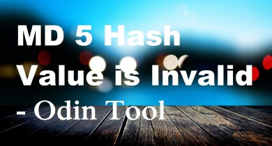 MD 5 Hash Value is Invalid