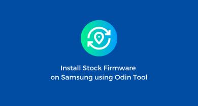 Flash Stock Firmware onSamsung Galaxy A10 SM-A105F