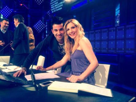 Francesco con Lorella Cuccarini