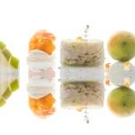 Chef Filippo Cogliandro: Seppie marinate al profumo di Bergamotto Mela Verde di Bova, tempura di Mazzancolla Mediterranea al Mais su mousse di Frescolatte Podolico