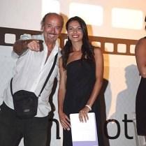 Enio Drovandi con la presentatrice Francesca Angioletti. PREMIO ANPOE