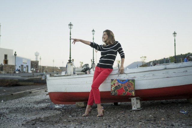 Veronica Maya per Biddikkia nell'isola di Lipari Autunno Inverno 2016-2017