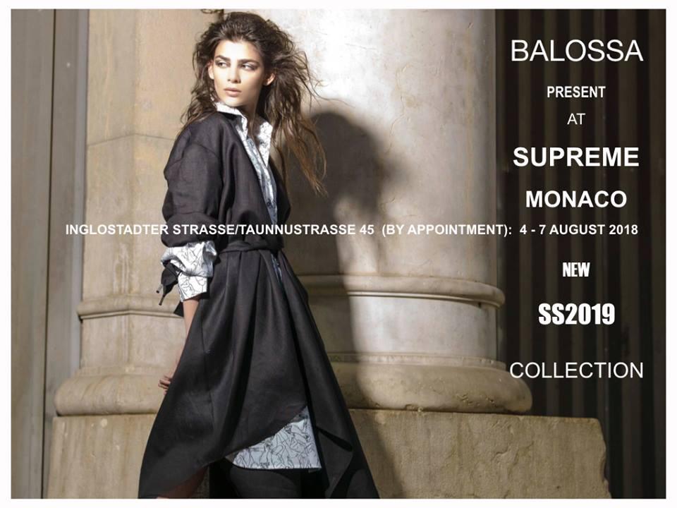 La collezione SS 2019 di Balossa al Supreme Trade Munich