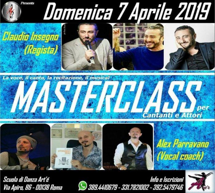 Masterclass con Alex Parravano e Claudio Insegno