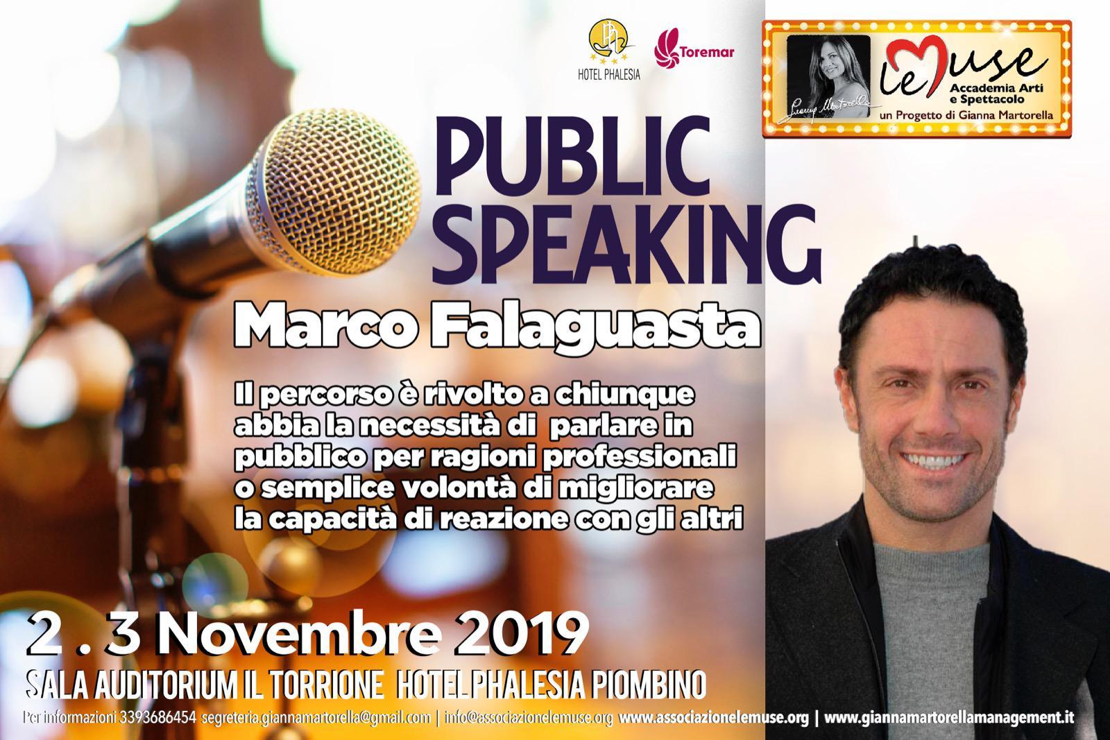Public Speaking con l'attore Marco Falaguasta