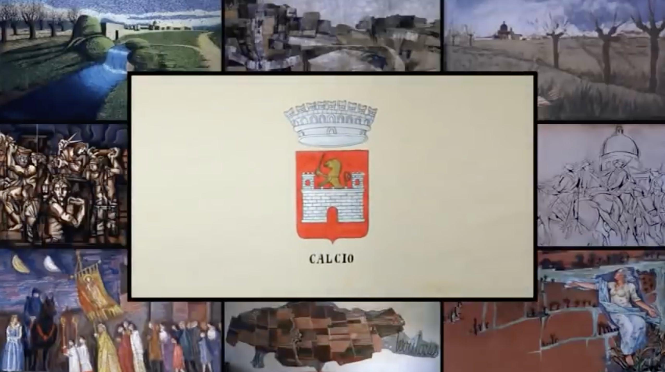 """CALCIO, il paese """"dipinto"""",  risponde alla crisi del turismo internazionale  e della cultura, con l'arte di strada   e le opere murali degli illustratori senza tempo."""