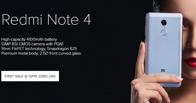 Xiaomi Redmi Note 4 Launched in India Starting Rs. 9,999