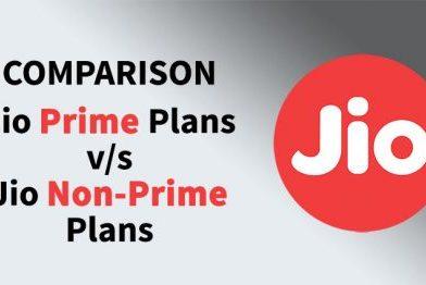 Reliance Jio Prime vs Non-Jio Prime Plans : Comparison
