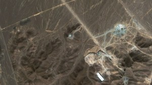 Satellite photo of the Fordow uranium enrichment facility near Qom, Iran. What really happened there last week?