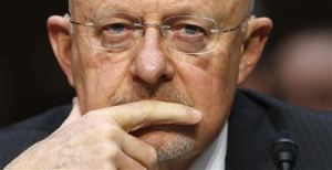 """Director of National Intelligence James Clapper testifies before a Senate Intelligence Committee hearing on """"Current and Projected National Security Threats to the United States"""" on Capitol Hill in Washington March 12, 2013. (Reuters/Kevin Lamarque)"""