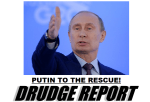 Headline on The Drudge Report on Monday.