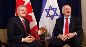 Canada's PM Stephen Harper is making his first state visit to Israel this month. Here he is meeting with Israel's PM Benjamin Netanyahu on the side lines of the United Nations General Assembly in New York. (Photo by Reuters )
