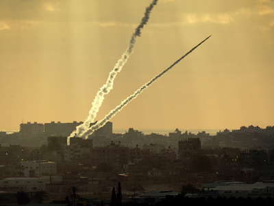 Rockets fired at Israel from Gaza.