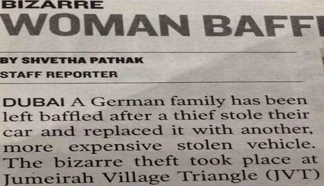 Strangest Auto Car Theft Ever