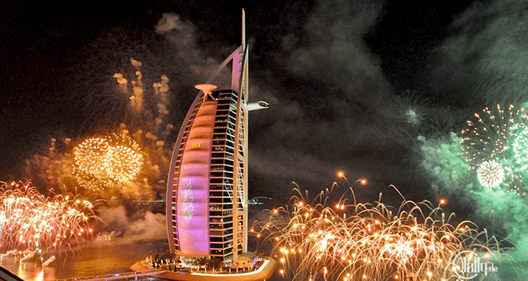 burj al arab new year 2018