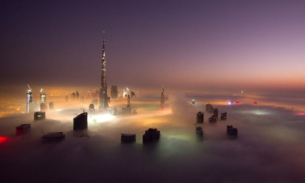 dubai clouds