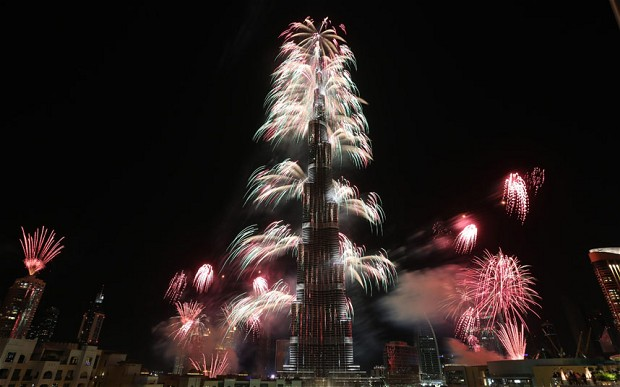 dubai new year 2014 fireworks