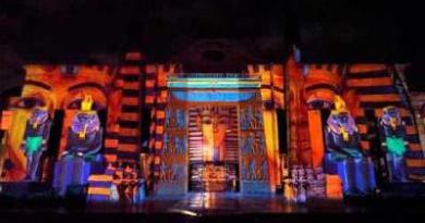 light and sound show at wafi dubai