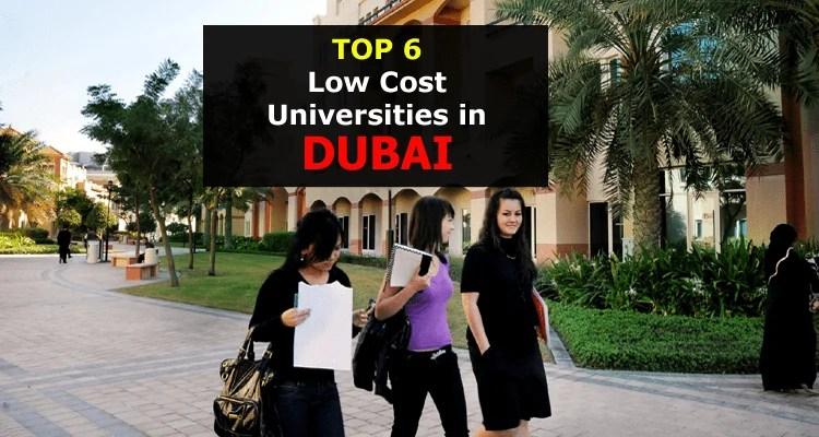 Top Low Cost Universities in Dubai