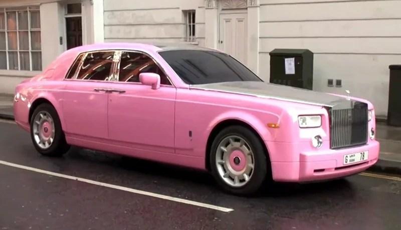 Pink Rolls Royce