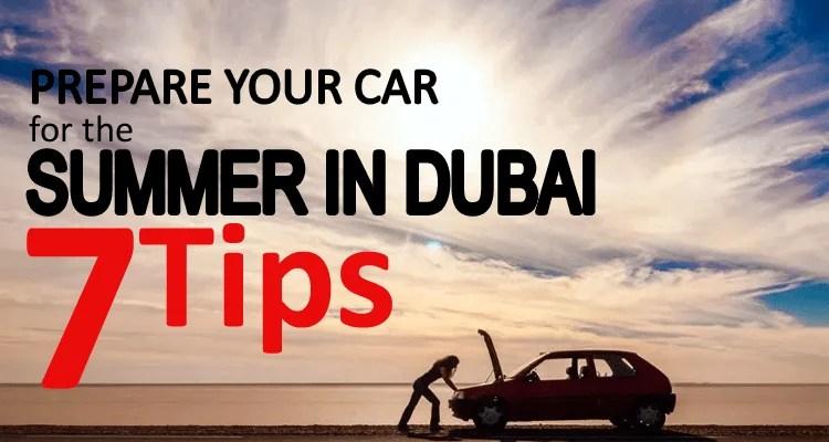 Prepare Car Summer in Dubai
