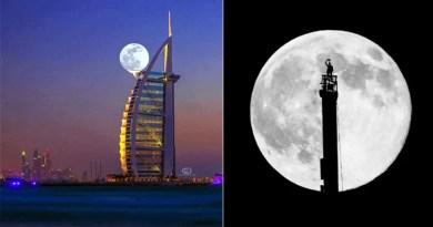 Supermoon in Dubai