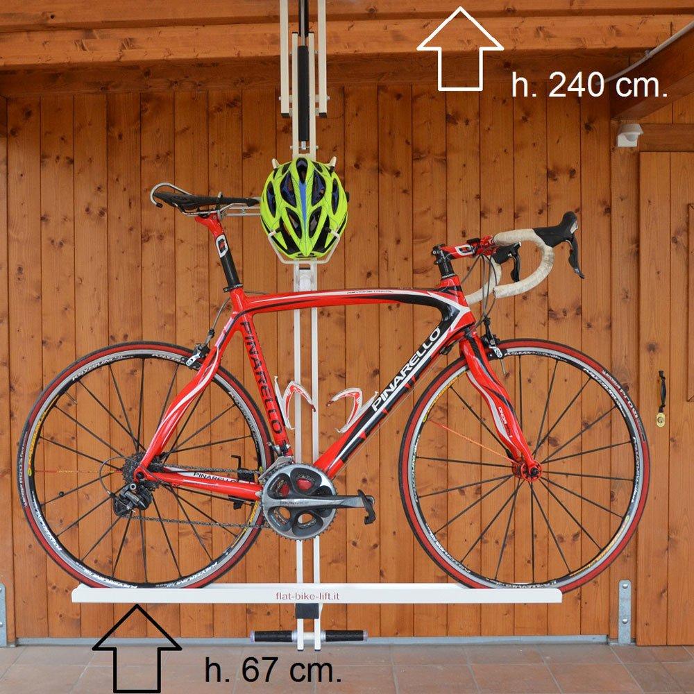 flat bike lift ceiling overhead bike
