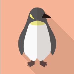 ペンギンのアイコン素材