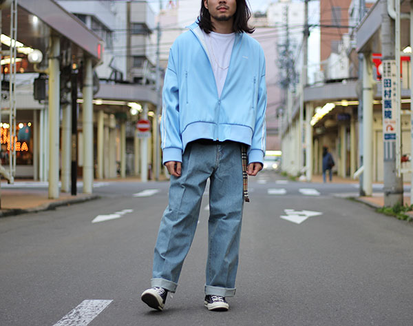【NEON SIGN】OVERSIZE TRUCK JACKET / Wide Denim Slacks【再入荷!】
