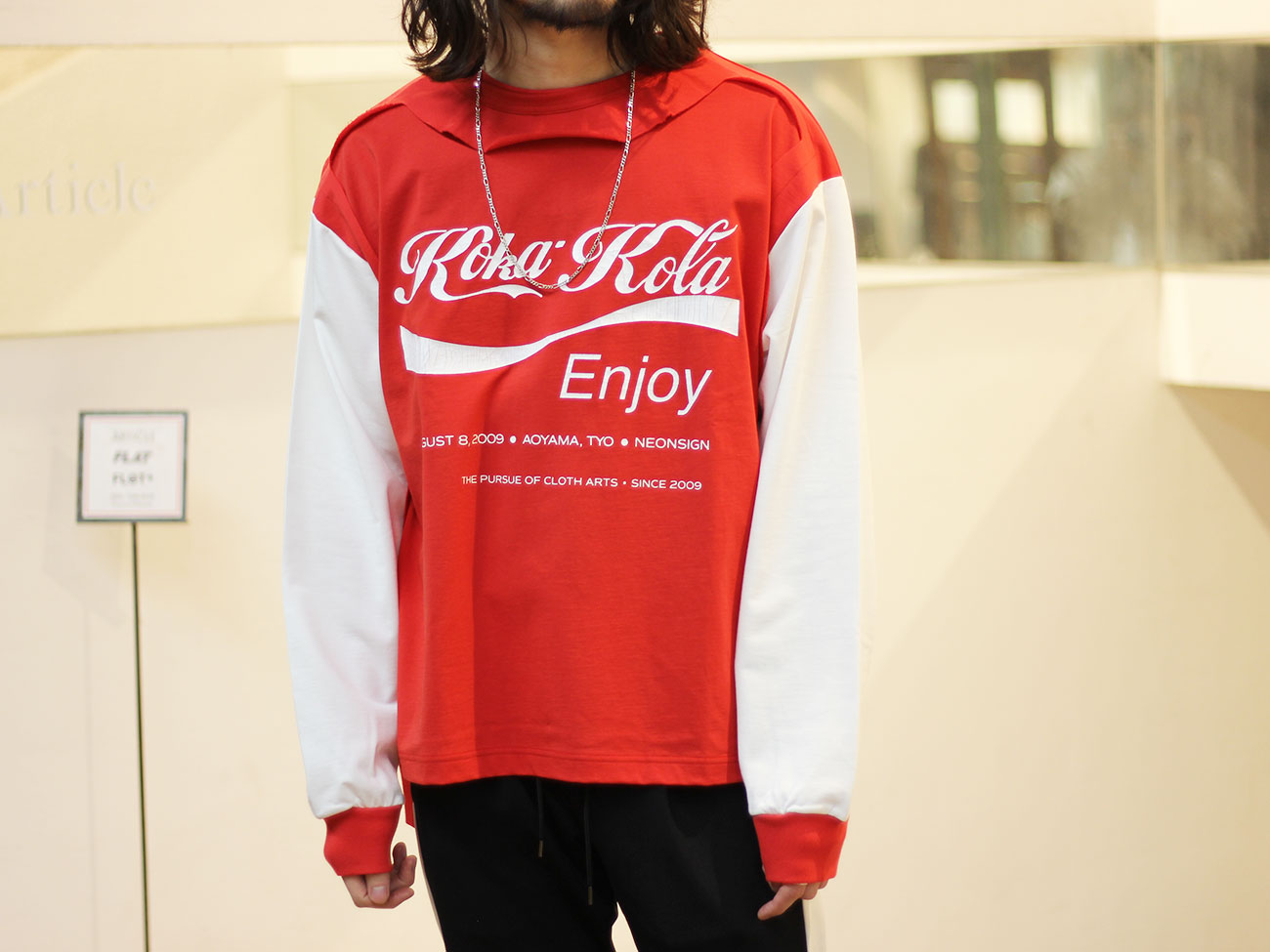 "【NEON SIGN】TRIPLE MIX SWEAT ""KOKAKOLA"""