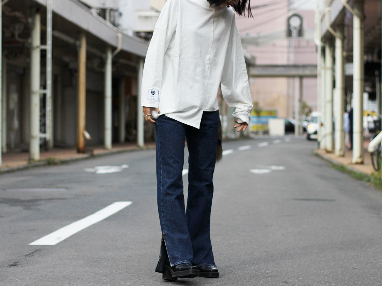 【RICE NINE TEN】APART LENGTH CUT AND SEWN