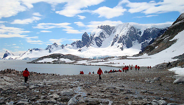Antarctica visitors tourism