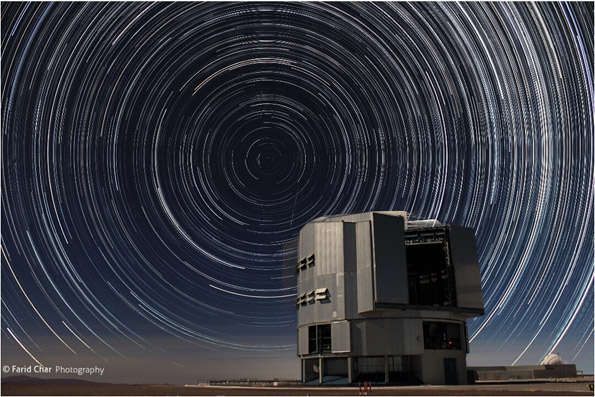 South Pole Star from Santiago Chile proves the globe Earth