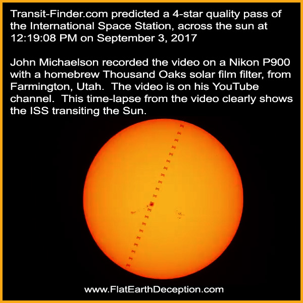 This time-lapse of the International Space Station transiting the sun proved that satellites exist.