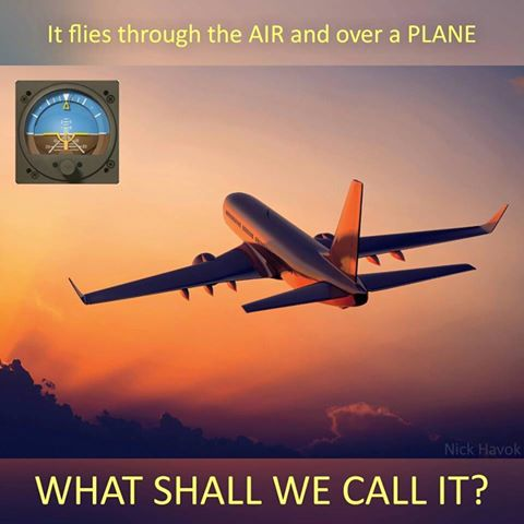 Flat earth meme - if flies through the Air over a Plane, what shall we call it?