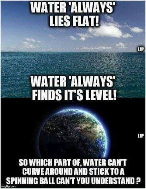 Flat Earth Water Always Find Its Level Deception Proves Nothing