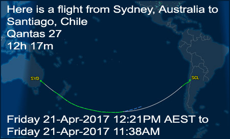 Here is a flight from Redcliffe, Australia to Johannesburg, South Africa. Flight time is 10h 32m. Tuesday 25-Apr-2017 12:07AM AWST to Tuesday 25-Apr-2017 04:39AM SAST