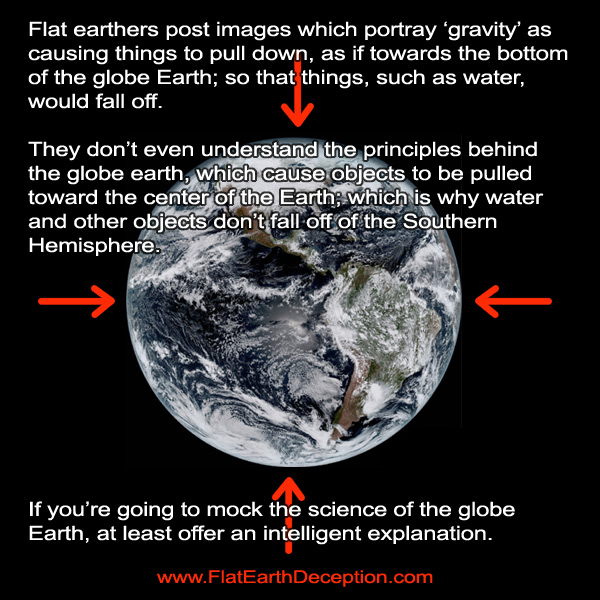 Earth gravity flat earth explanations fall flat!