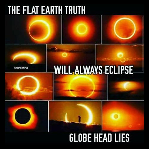 The Flat Earthers In Christ Truth Will Always Eclipse Globe Head Lies
