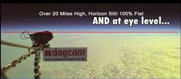 flat earth 100,00 feet horizon at eye level