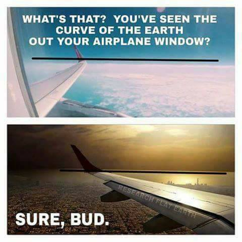 Flat Earther Airplane Pictures