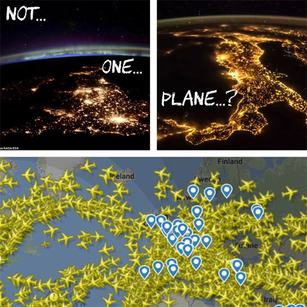Paul Raines shared this post to the Facebook group: The FLAT out TRUTH & no BALL face LIES., not one plane