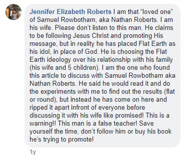 Jennifer Roberts, wife of Nathan Roberts, says that he's a false teacher