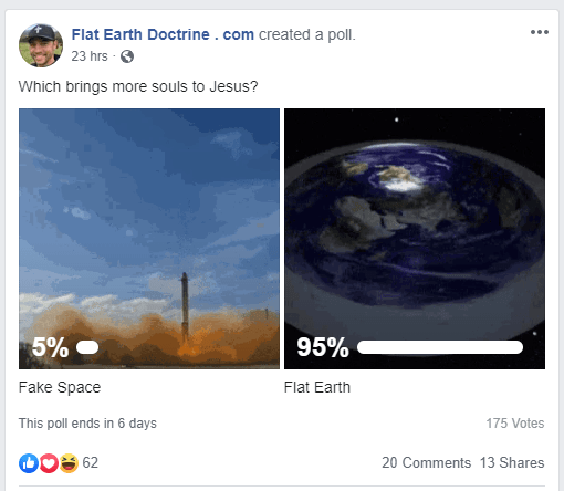 Nathan Roberts Flat Earth Poll