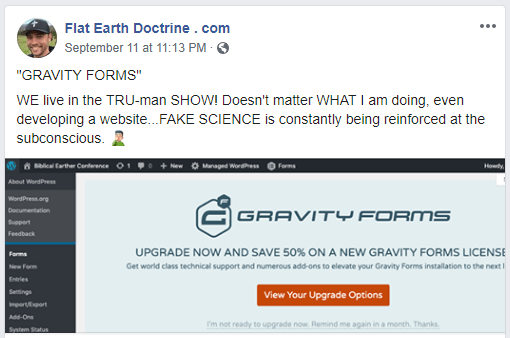 Nathan Roberts Flat Earth Doctrine Gravity Forms