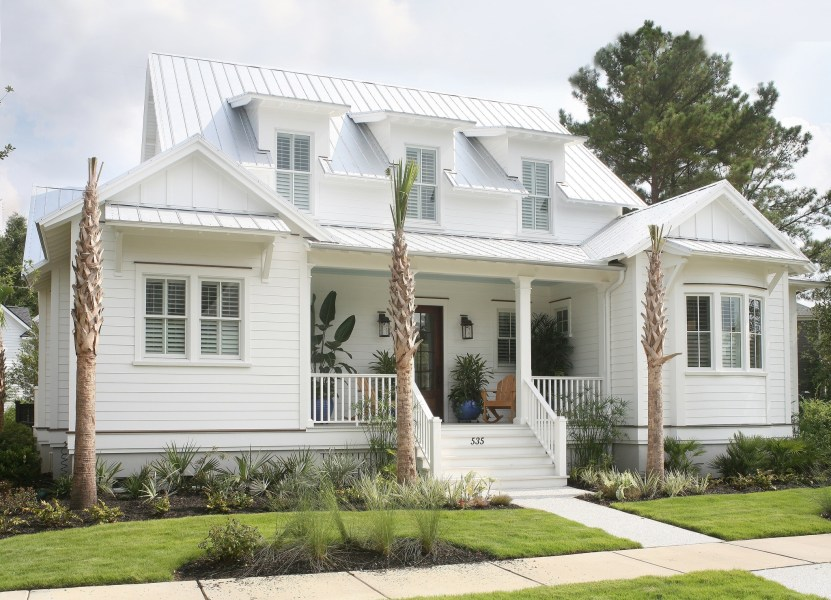 Coastal Cottage House Plans   Breeze Collection     Flatfish Island     Dewees Breeze Front Exterior