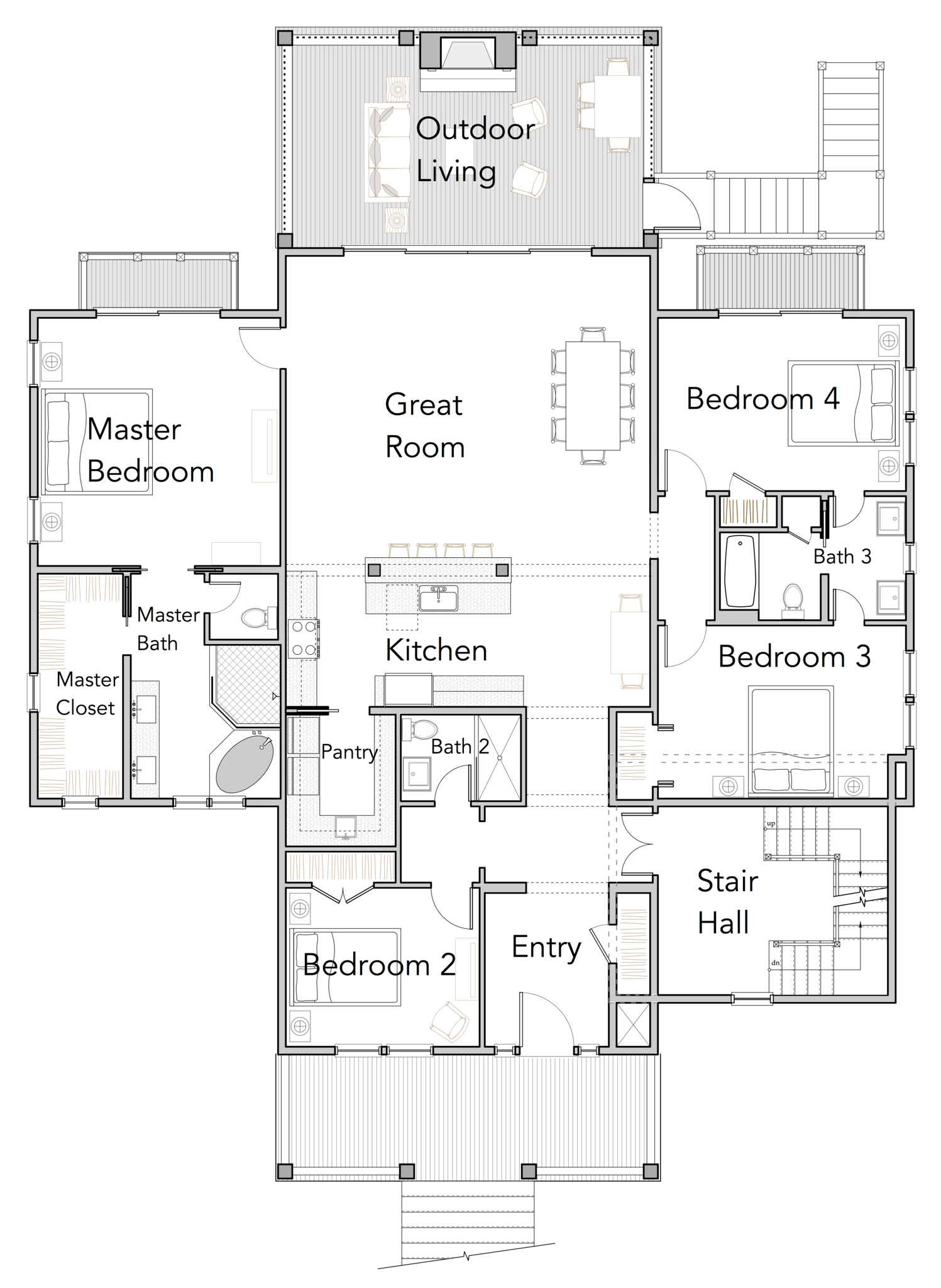 View Orientated Coastal House Plans