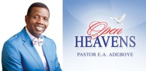 Open Heavens 15 September 2018, Pastor E.A. Adeboye