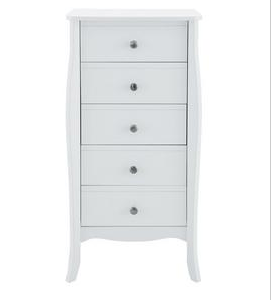 Baroque 5 Drawer Chest White 230