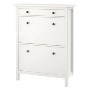Hemnes 2 Compartment Shoe Cabinet